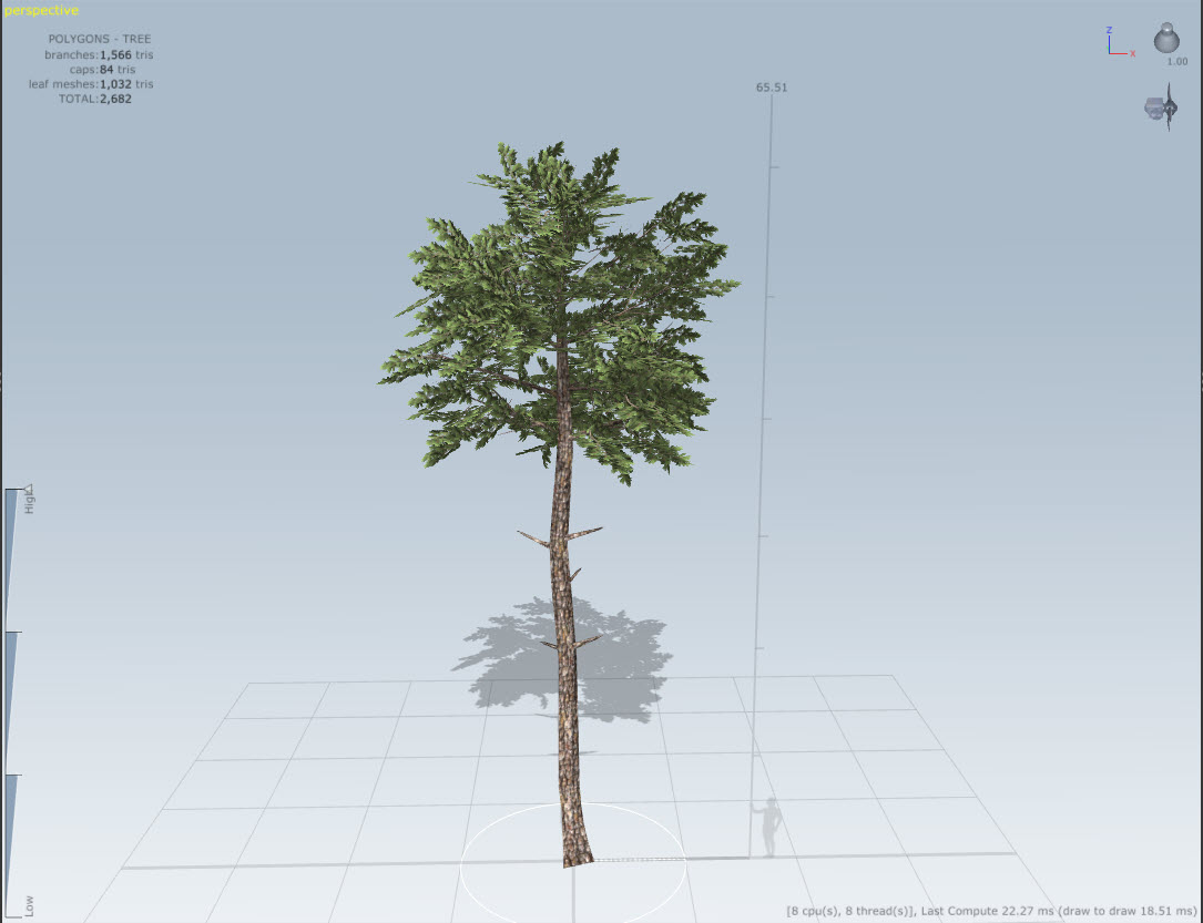 Conifer and other tree variations with Speed Tree for After the Fall